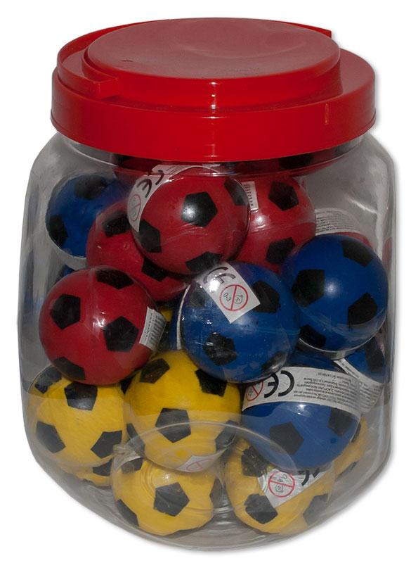 Fußball Flummis 3 Farbig Flummi Springball 43 mm Ball Hüpfball Mitgebsel Großhandel & Sonderposten Business & Industrie