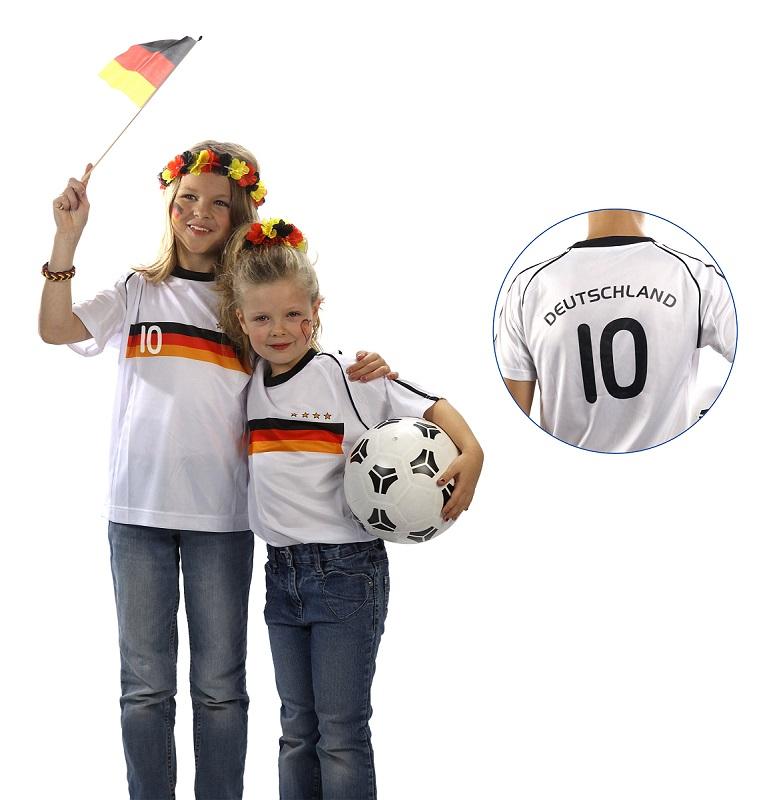 1 x kinder fu ball trikot deutschland verschiedene gr t. Black Bedroom Furniture Sets. Home Design Ideas