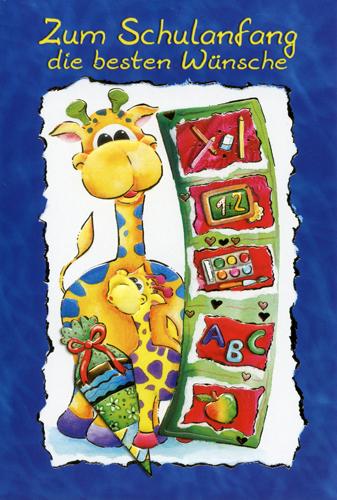 Grußkarten grußkarte schulanfang glückwunschkarten