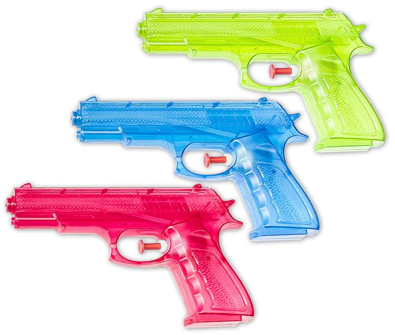 Wasserpistolen Wasserpistole Klassiker 16 cm Spritzpistolen Wasserspritze Großhandel & Sonderposten
